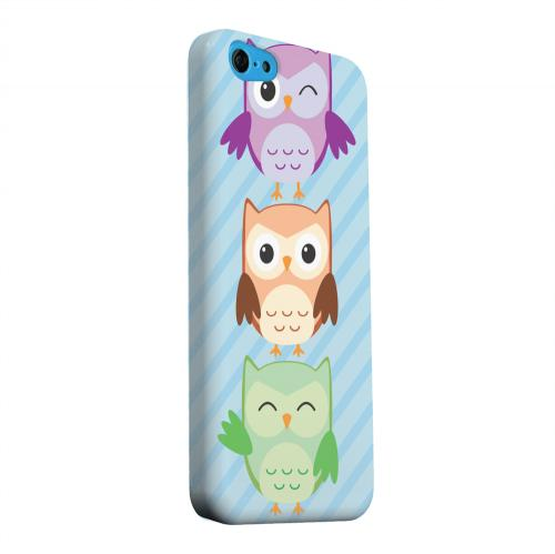 Geeks Designer Line (GDL) Apple iPhone 5C Matte Hard Back Cover - Happy Owl Pals