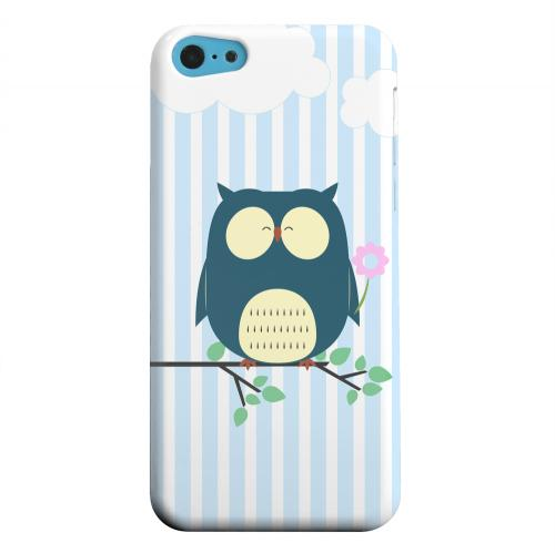 Geeks Designer Line (GDL) Apple iPhone 5C Matte Hard Back Cover - Fat Peaceful Owl on Tree Branch