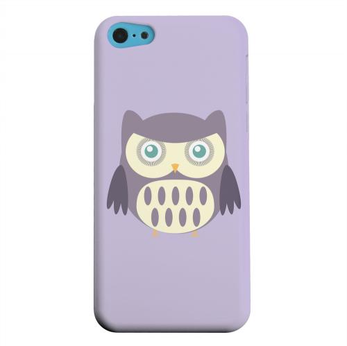 Geeks Designer Line (GDL) Apple iPhone 5C Matte Hard Back Cover - Chubby Purple Owl