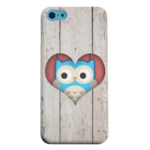 Geeks Designer Line (GDL) Apple iPhone 5C Matte Hard Back Cover - Peek A Blue Owl