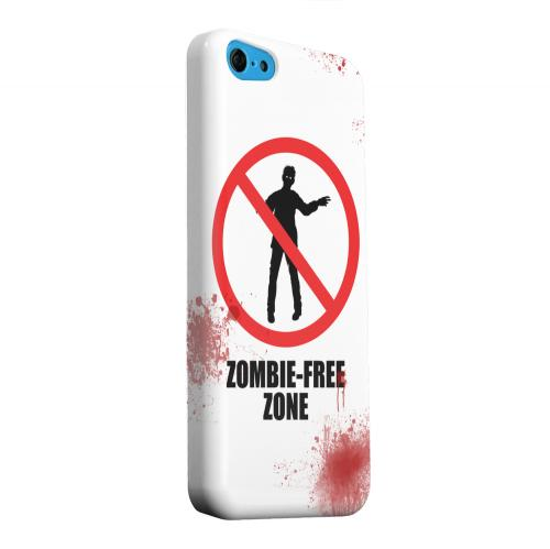 Geeks Designer Line (GDL) Apple iPhone 5C Matte Hard Back Cover - Zombie-Free Zone