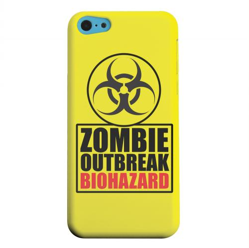 Geeks Designer Line (GDL) Apple iPhone 5C Matte Hard Back Cover - Zombie Outbreak Biohazard