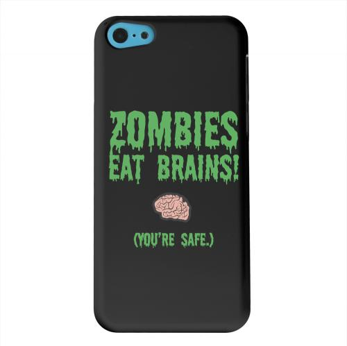 Geeks Designer Line (GDL) Apple iPhone 5C Matte Hard Back Cover - Zombies Eat Brains