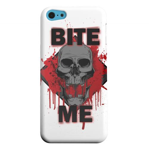 Geeks Designer Line (GDL) Apple iPhone 5C Matte Hard Back Cover - Bite Me on White