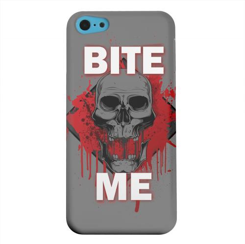 Geeks Designer Line (GDL) Apple iPhone 5C Matte Hard Back Cover - Bite Me on Gray