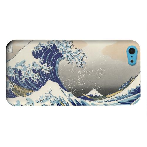 Geeks Designer Line (GDL) Apple iPhone 5C Matte Hard Back Cover - Katsushika Hokusai The Great Wave Off Kanagawa
