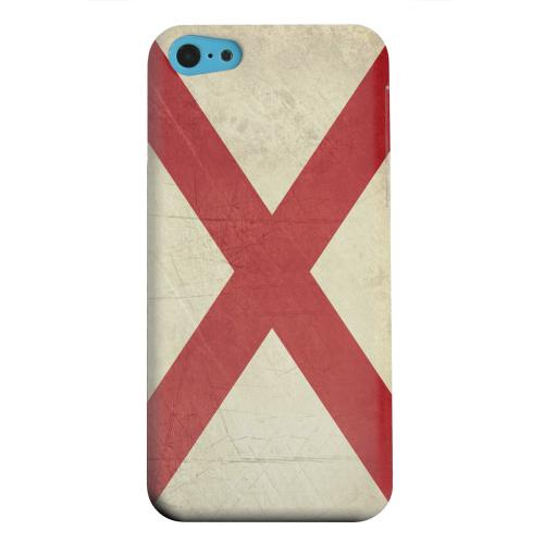 Geeks Designer Line (GDL) Apple iPhone 5C Matte Hard Back Cover - Grunge Alabama