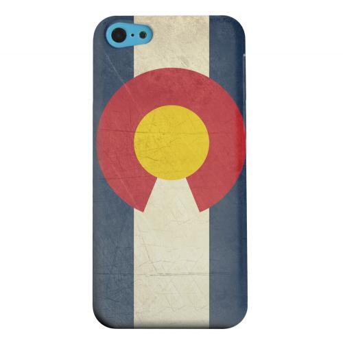Geeks Designer Line (GDL) Apple iPhone 5C Matte Hard Back Cover - Grunge Colorado