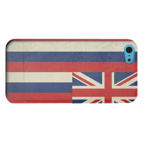 Geeks Designer Line (GDL) Apple iPhone 5C Matte Hard Back Cover - Grunge Hawaii