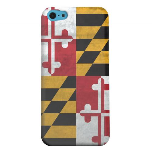 Geeks Designer Line (GDL) Apple iPhone 5C Matte Hard Back Cover - Grunge Maryland