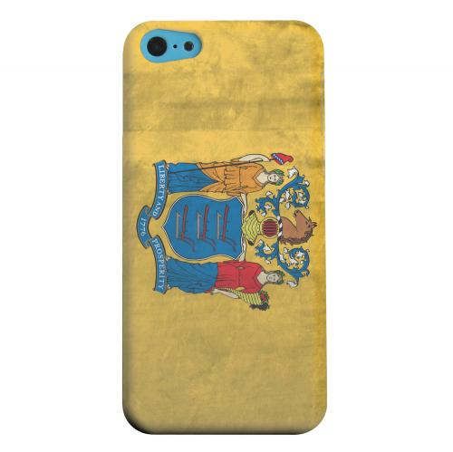 Geeks Designer Line (GDL) Apple iPhone 5C Matte Hard Back Cover - Grunge New Jersey