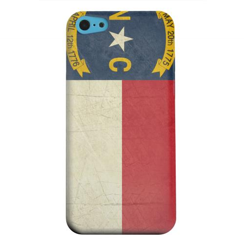 Geeks Designer Line (GDL) Apple iPhone 5C Matte Hard Back Cover - Grunge North Carolina