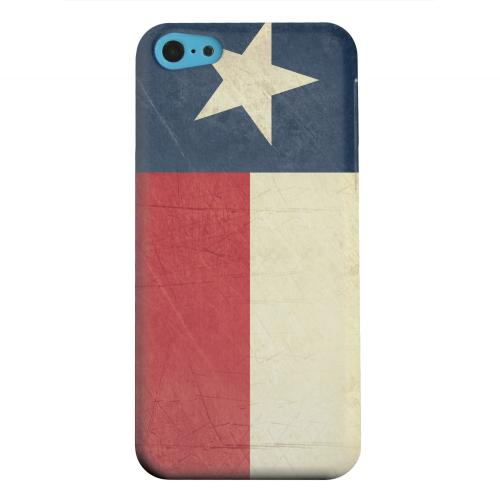Geeks Designer Line (GDL) Apple iPhone 5C Matte Hard Back Cover - Grunge Texas