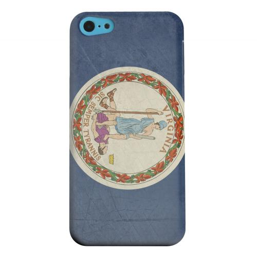 Geeks Designer Line (GDL) Apple iPhone 5C Matte Hard Back Cover - Grunge Virginia