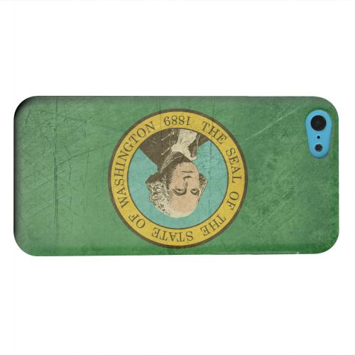 Geeks Designer Line (GDL) Apple iPhone 5C Matte Hard Back Cover - Grunge Washington