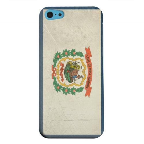 Geeks Designer Line (GDL) Apple iPhone 5C Matte Hard Back Cover - Grunge West Virginia