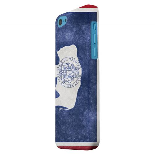 Geeks Designer Line (GDL) Apple iPhone 5C Matte Hard Back Cover - Grunge Wyoming