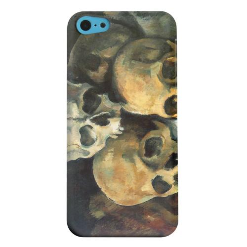 Geeks Designer Line (GDL) Apple iPhone 5C Matte Hard Back Cover - Paul Cezanne Pyramid of Skulls