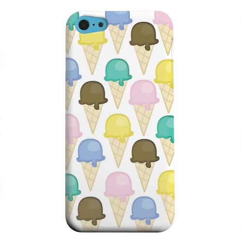 Geeks Designer Line (GDL) Apple iPhone 5C Matte Hard Back Cover - Assorted Ice Cream Cones