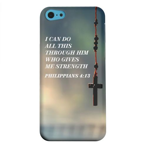 Geeks Designer Line (GDL) Apple iPhone 5C Matte Hard Back Cover - Philippians 4:13