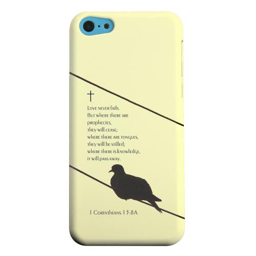 Geeks Designer Line (GDL) Apple iPhone 5C Matte Hard Back Cover - Corinthians 13:8A