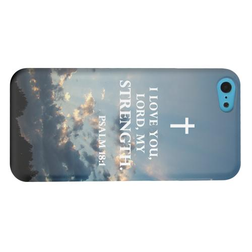 Geeks Designer Line (GDL) Apple iPhone 5C Matte Hard Back Cover - Psalm 18:1