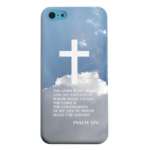 Geeks Designer Line (GDL) Apple iPhone 5C Matte Hard Back Cover - Psalm 27:1