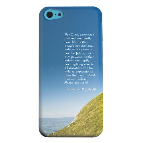 Geeks Designer Line (GDL) Apple iPhone 5C Matte Hard Back Cover - Romans 8:38-39