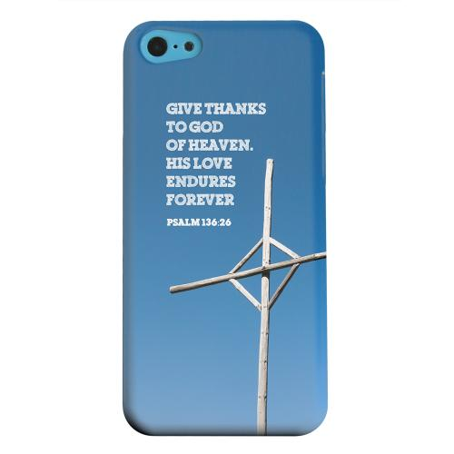 Geeks Designer Line (GDL) Apple iPhone 5C Matte Hard Back Cover - Psalm 136:26