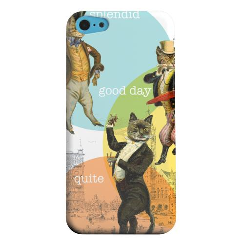 Geeks Designer Line (GDL) Apple iPhone 5C Matte Hard Back Cover - Dandy Kitties