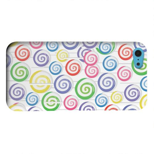 Geeks Designer Line (GDL) Apple iPhone 5C Matte Hard Back Cover - Assorted Lollipops