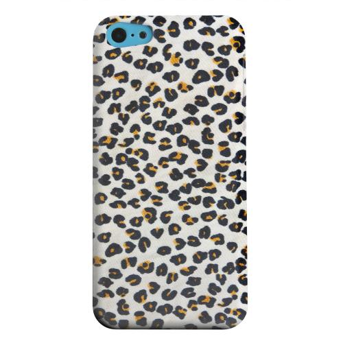 Geeks Designer Line (GDL) Apple iPhone 5C Matte Hard Back Cover - Albino Leopard Print