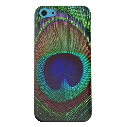 Geeks Designer Line (GDL) Apple iPhone 5C Matte Hard Back Cover - Colorful Peacock Feather