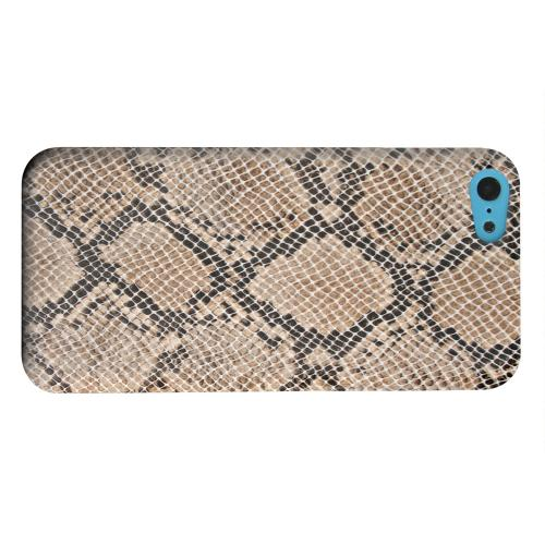 Geeks Designer Line (GDL) Apple iPhone 5C Matte Hard Back Cover - Rattlesnake Skin