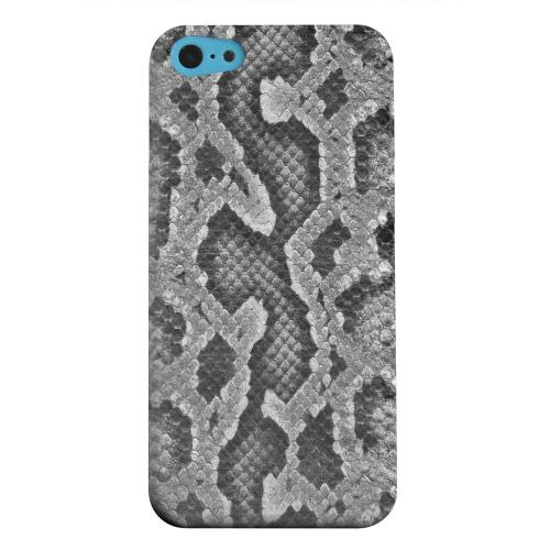 Geeks Designer Line (GDL) Apple iPhone 5C Matte Hard Back Cover - Gray Snake Skin