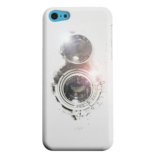 Geeks Designer Line (GDL) Apple iPhone 5C Matte Hard Back Cover - White Lens Flare