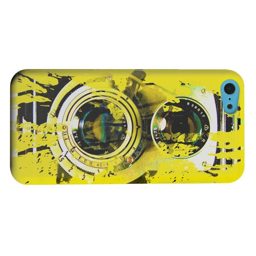Geeks Designer Line (GDL) Apple iPhone 5C Matte Hard Back Cover - Chaotic Yellow Camera