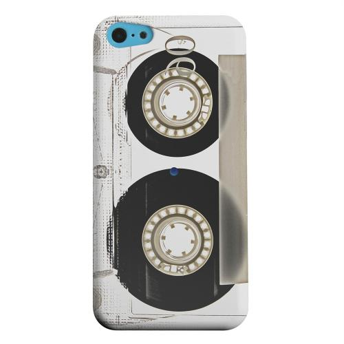 Geeks Designer Line (GDL) Apple iPhone 5C Matte Hard Back Cover - Clear Cassette