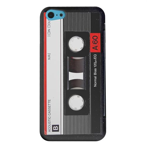 Geeks Designer Line (GDL) Apple iPhone 5C Matte Hard Back Cover - Black Acoustic Cassette
