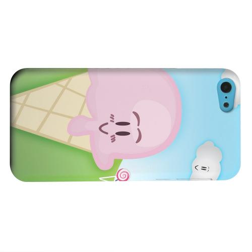 Geeks Designer Line (GDL) Apple iPhone 5C Matte Hard Back Cover - Cute Pink Ice Cream Cone