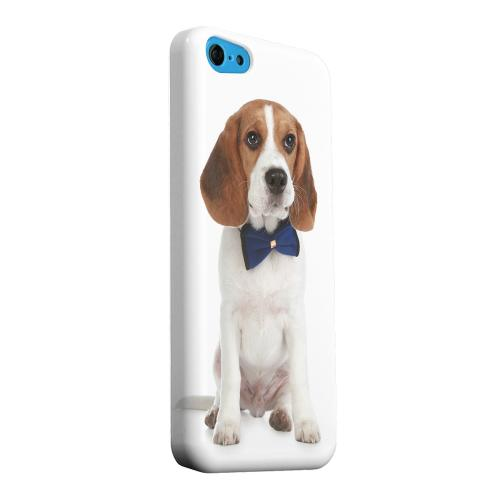Geeks Designer Line (GDL) Apple iPhone 5C Matte Hard Back Cover - Beagle with Bow Tie
