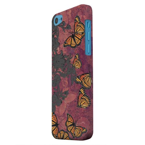 Geeks Designer Line (GDL) Apple iPhone 5C Matte Hard Back Cover - Butterflies on Parade