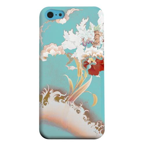 Geeks Designer Line (GDL) Apple iPhone 5C Matte Hard Back Cover - Flower Wave