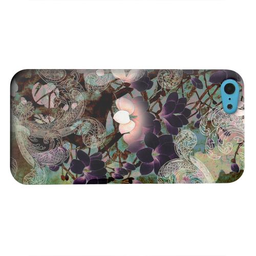 Geeks Designer Line (GDL) Apple iPhone 5C Matte Hard Back Cover - Lacy Flowers