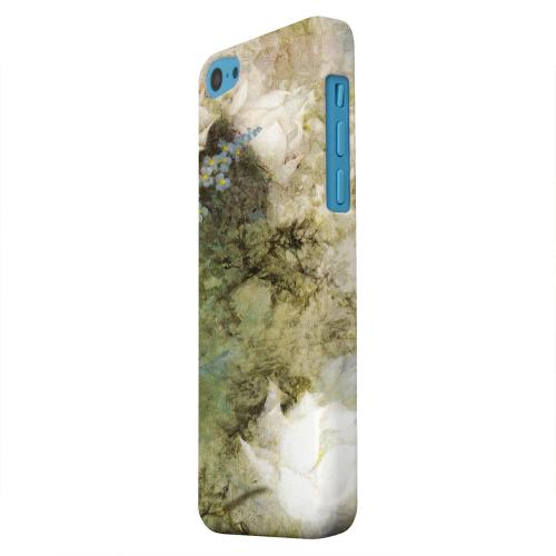 Geeks Designer Line (GDL) Apple iPhone 5C Matte Hard Back Cover - White Lillies