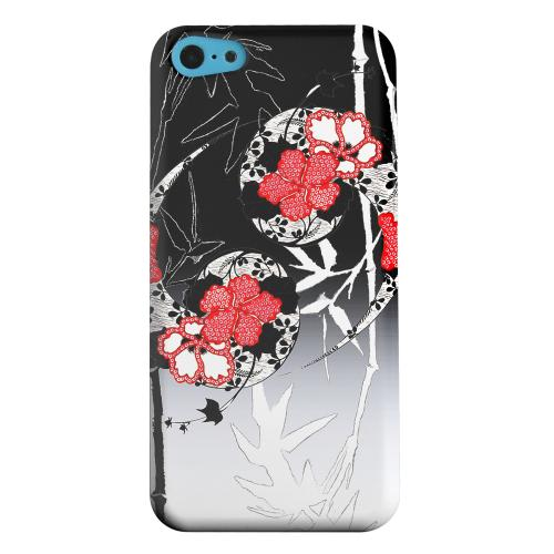 Geeks Designer Line (GDL) Apple iPhone 5C Matte Hard Back Cover - Bamboo Yin Yang