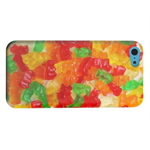 Geeks Designer Line (GDL) Apple iPhone 5C Matte Hard Back Cover - Multi-Colored Gummy Bears