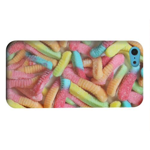 Geeks Designer Line (GDL) Apple iPhone 5C Matte Hard Back Cover - Multi-Colored Gummy Worms