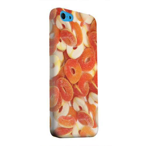 Geeks Designer Line (GDL) Apple iPhone 5C Matte Hard Back Cover - Orange/White Gummy Rings