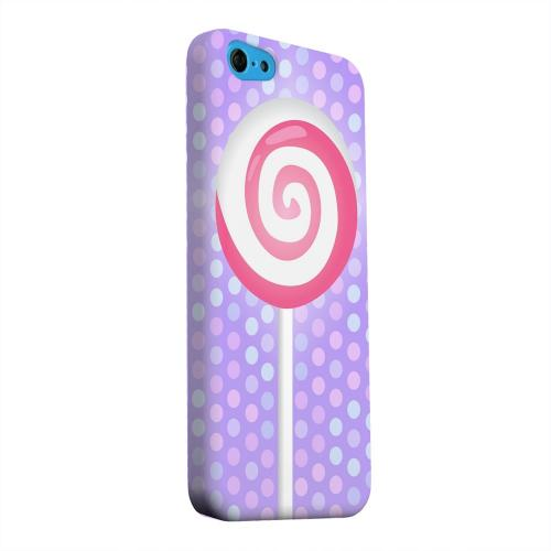 Geeks Designer Line (GDL) Apple iPhone 5C Matte Hard Back Cover - Pink Lollipop
